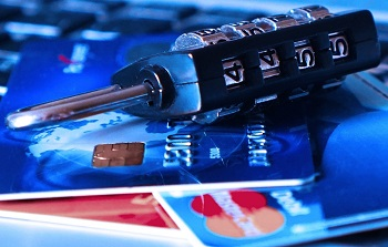 A lock and some credit cards