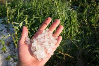 Hail drops
