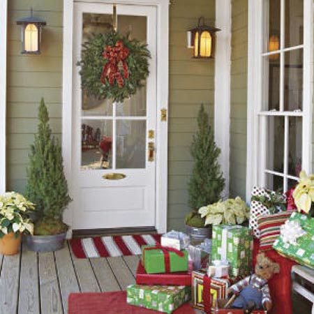 festive door mats