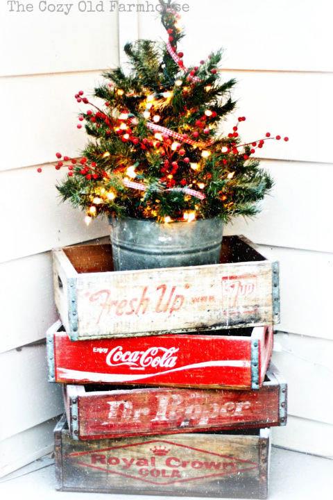 vintage soda boxes