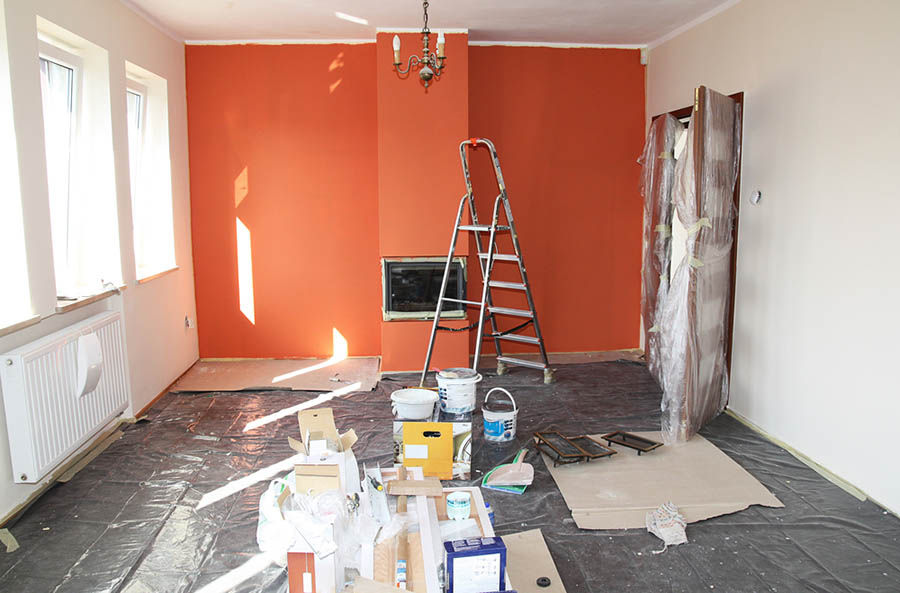 Renovating a room with orange wallpaper