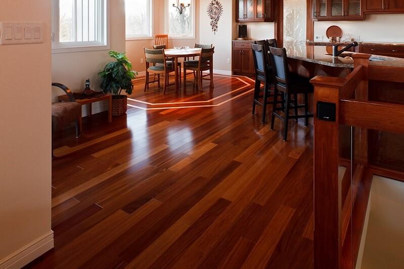 Beautiful finished red hardwood floor