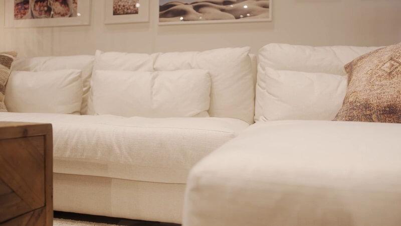 Soft white sofa couch