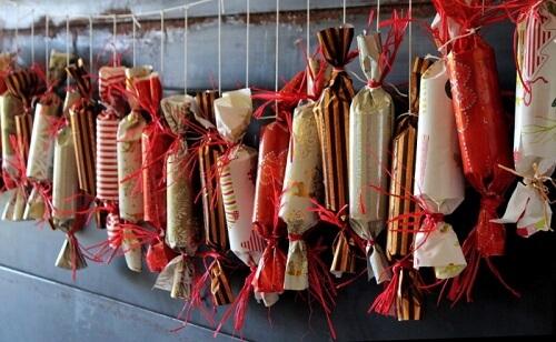 Christmas cracker advent calendar