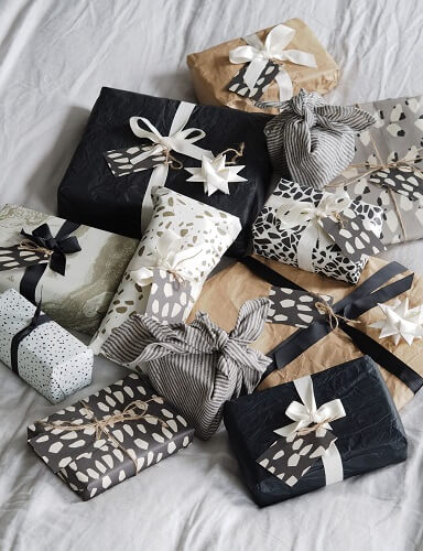Black, white and brown wrapping paper